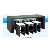 outdoor chair rattan bar table and chair one table with six chairs Manufactures
