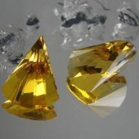 Specialist Fancy Cut Golden Yellow Synthetic Glass Gemstone, Available in Various Colors and Sizes Manufactures