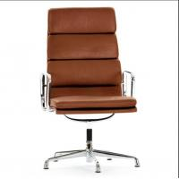 China Sophisticated Soft Pad Office Chair / Brown Leather Desk Chair Customized Design on sale