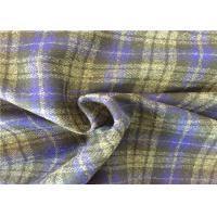 400g/M Soft Wool Check Fabric , Scarf Tartan Wool Fabric Fashionable Manufactures