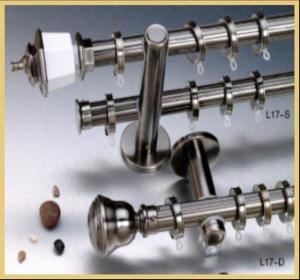 Plating Alluminum Alloy/Steel  Curtain Rod Manufactures