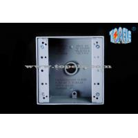 External Aluminum Weatherproof Junction Boxes , Two Gang Electrical Switch Box Manufactures