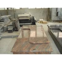 Multicolor Red Granite Stone Tombstones For Graves French Style Acid Resistant Manufactures