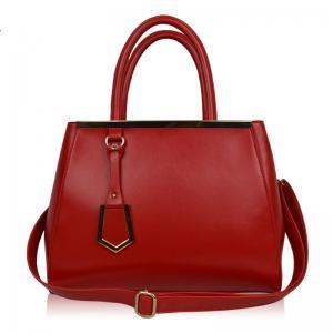 China 2014 new arrival fashion business genuine leather messenger handbag party bag on sale