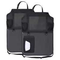 China 600D Polyester Fabric Car Backseat Trunk Organizer With Clear PVC iPad Holder on sale