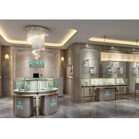 Luxury Modern Jewelry Shop Display Cabinets / Jewellery Showroom Furniture Manufactures