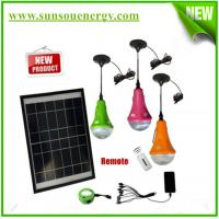 China Rechargeable solar energy lamp, solar emergency hom lighting kits with remote controller on sale