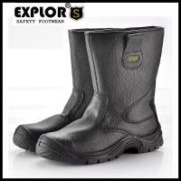 Men's safety boots 5inch slip-on boots men's steel toe safety boots black Manufactures