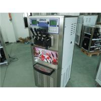 Quality 3 Flavor Commercial Single Phase Soft Serve Ice Cream Machine Low Working Noise for sale