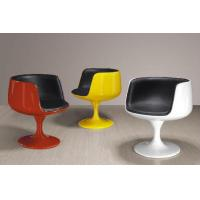 China Fiberglass Tea Room Chairs For Bar Furniture , PU Leather Coffee Cup Chairs on sale