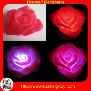 Logo printing Hot Valentine Gifts PVC 3 LED colorful Magic Flashing Rose HL-C3312 Manufactures