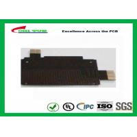 Black Solder Mask Flexible PCB Manufacturing for Mobile Phone , 1mil PI Material Manufactures