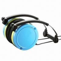 Wired headphones for iPhone/iPod/MP3/PC, foldable/rotatable, available in 7 colors/Pantone number Manufactures