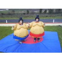 Flame Retardant Inflatable Amusement Park With Sumo Suit For Kids Manufactures