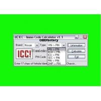 Original ICC IMMO Calculator, Automotive Diagnostic Software for Nissan and Infinity Manufactures