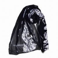 Women's Scarf with Unique Pattern, Made of Chiffon, Various Colors are Available Manufactures