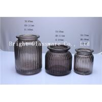 hand made home decorative amber glass candle container jar Manufactures