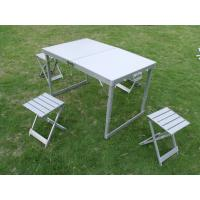 Promotional Folding Camping Table And Chairs for Party With Aluminum Frame Manufactures