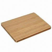 Bamboo Cutting Board and Blocks Hand Crafted, Made in Layers of Flattened Strips Manufactures