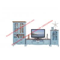 Quality Mediterranean Style Living room Furniture by TV wall unit set Floor stand and Storage cabinet for sale
