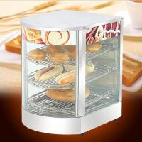 Restaurant curved glass commercial food warmers Warming Showcase  Manufactures