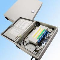 China Cold Rolled Steel Plate Fiber Optic Cable Distribution Box 48 Core Flip Structure on sale