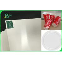 China Customized Single Side PE Coated Paper For Disposable PlatesFSC FDA Approved on sale
