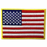 American US Flag Custom Velcro Patches / Washable Tactical Badges Manufactures