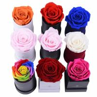 China Manufacturer Supplier Real Preserved Rose In Gift Box Single Rose Box Flower on sale