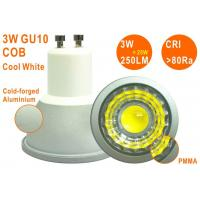Epistar COB 3W 250LM Cool White High CRI Non-dimmable GU10 LED Spotlight Manufactures