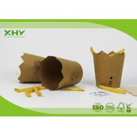 Custom Print  250m Flower Shape Paper French Fries Cups 10oz Kraft Paper Manufactures