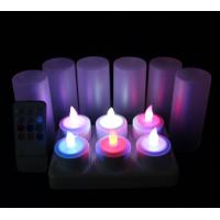China candles wholesale /color change electric tea lights with remote on sale
