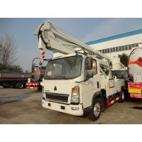 China LHD / RHD Truck Mounted Access Platforms , Arm Lift Aerial Bucket Truck 16m Height on sale