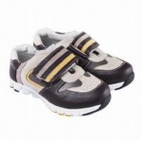 China Children's running shoes, made of imported cow leather on sale