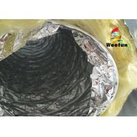 Quality Round 4 Inch Flexible HVAC Duct Insulation Wrap Insulated Aluminum Small Bending Radius for sale