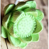 China Zen Buddhism Lotus Flower Aromatic Diffuser Ceramic Fragrance Diffusers TS-CF007 on sale