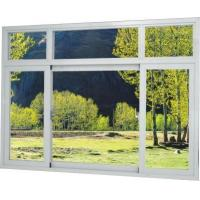 China Good quality Brown / Silver Thermal Break Aluminum Frame Windows With Tinted/ Temper Glass on sale