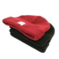 Buy cheap Popular unisex warm all colors customize woven label winter knitted boonies hats from wholesalers