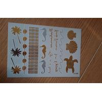 Hawaii metallic long lasting temporary tattoo jewelry inspired temporary bling tattoo Manufactures