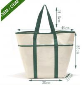 8oz Fashion Custom Print Logo Long Handle Canvas Bag Tote Bag,organic cotton custom printed tote canvas bag bagease pac Manufactures