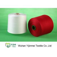 Bright Red / White 100 Polyester Yarn Sewing Thread , Polyester Core Spun Yarn Knotless Manufactures
