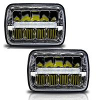 H / Low Beam Led Car Headlamps With Parking Light , Square Led Headlights For Trucks Manufactures