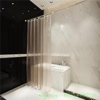 waterproof  environmental no pvc peva shower curtains in 3d effect free hooks Manufactures