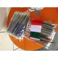 Digital Printing Knitted Custom Hand Waving Flags With Plastic Poles Manufactures