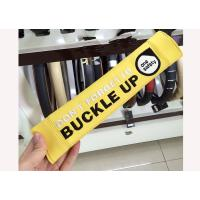China Seat Belt Strap Covers For Adults , Yellow Auto Seat Belt Accessories on sale