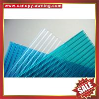 China high quality greenhouse roofing polycarbonate PC sun multi four twin wall hollow sheet sheeting plate board panel on sale