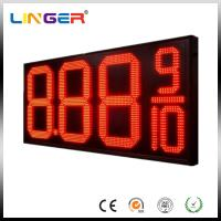 12 Inch Red Color Four Digits LED Gas Price Display for Petrol Station Manufactures