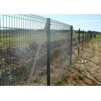 Square Post Powder Coating RAL6005 Welded Mesh Fencing With 50x200mm Mesh Manufactures