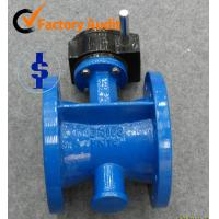 Gear Center Line Flange Butterfly Valve EPDM , Ductile Iron / WCB / Cast Iron Body Manufactures