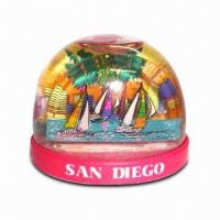 DIY Snow Globe, Made of Acrylic, Customized Designs are Welcome Manufactures
